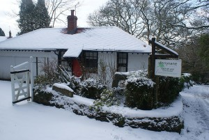 Darrynane Cottages in the Snow