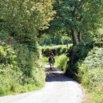 Ameisha on the leafy lanes near Blisland
