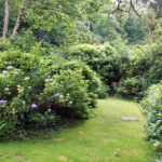 The private, fenced gardens of The Lodge Cottage at Darrynane. Sleeps 2 and ideal for short breaks or longer visits.