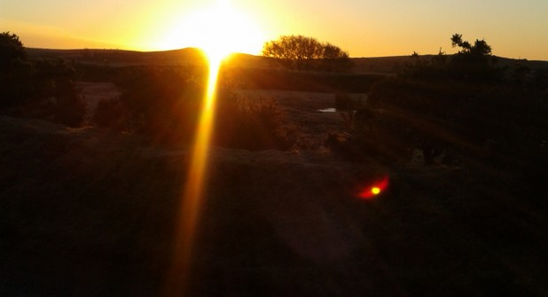 Sunrise over Hawks Tor Feb 2013
