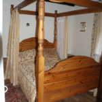 Four poster bed in the Lodge